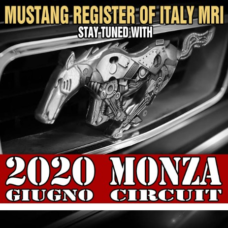 Monza Circuit 2020 con Mustang Register of Italy MRI